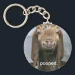 "Goat pooping keychain<br><div class=""desc"">Goats poop too.</div>"