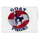 GOAT PRIDE AMERICAN FLAG USA GREETING CARD