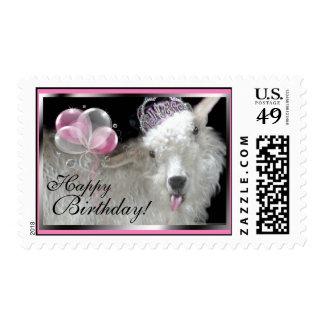 Goat Princess Happy Birthday Postage
