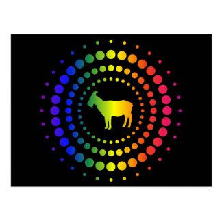 Goat Rainbow Studs Postcard