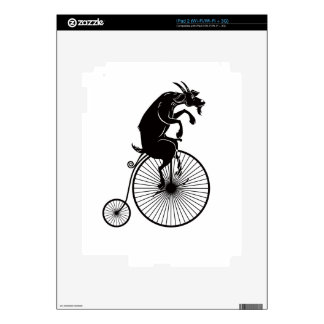 Goat Riding a Penny Farthing Bike Decal For The iPad 2