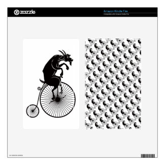 Goat Riding a Penny Farthing Bike Skin For Kindle Fire
