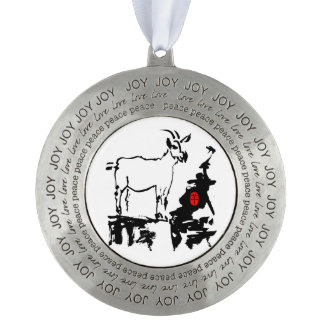 Goat rocks - 2015 Chinese New Year of The Goat - Round Ornament