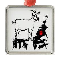 Goat rocks Vietnamese Chinese Year Zodiac Metal O Metal Ornament