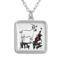 Goat rocks Vietnamese Chinese Year Zodiac Necklace
