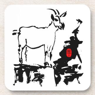 Goat rocks Vietnamese Year of The Goat Beverage Coaster