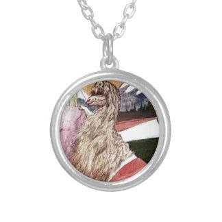 Goat Round Pendant Necklace