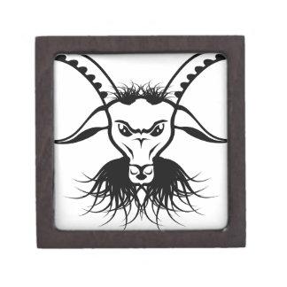 Goat Satan Devil Evil Vector Gift Box