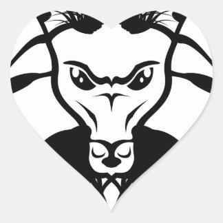 Goat Satan Devil Evil Vector Heart Sticker