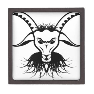 Goat Satan Devil Evil Vector Jewelry Box