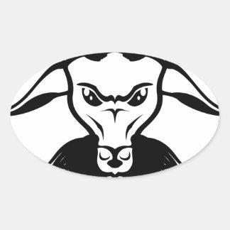 Goat Satan Devil Evil Vector Oval Sticker
