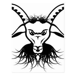 Goat Satan Devil Evil Vector Postcard