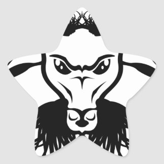 Goat Satan Devil Evil Vector Star Sticker