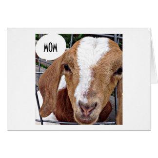 """GOAT SAYS """"MOM"""" """"NOT KIDDING HAPPY BIRTHDAY"""" CARD"""