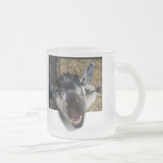 Goat Screaming to Get Out 10 Oz Frosted Glass Coffee Mug