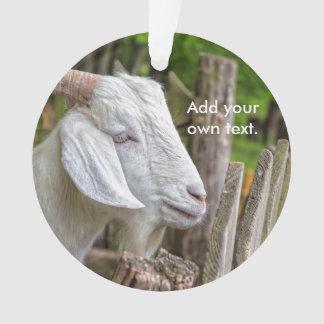 Goat Sees Greener Grass Ornament