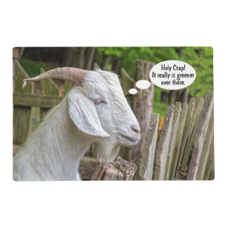 Goat Sees Greener Grass Placemat