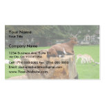 Goat Sitting Trunk Of Tree Business Card Template