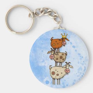 goat stack keychain