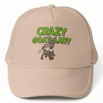 Goat T-shirt Crazy Goat Lady 5 Trucker Hat