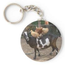 Goat taxi keychain