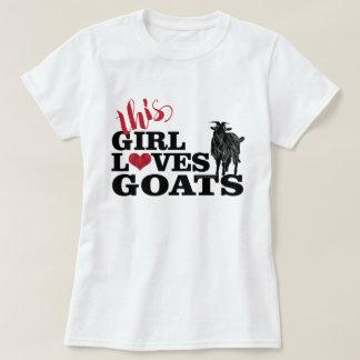 GOAT | This Girl Loves Goats Dairy Buck T-Shirt