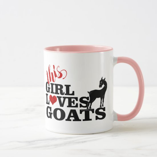 GOAT | This Girl Loves Goats Pretty Stylized Goat Mug
