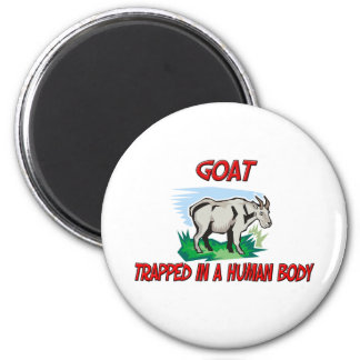 Goat trapped in a human body fridge magnet