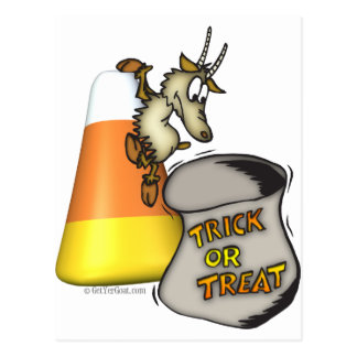 Goat Trick or Treat Halloween Gifts Postcard