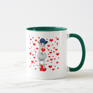 Goat Valentine Hearts Mug