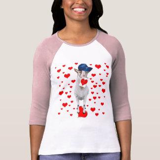 Goat Valentine Hearts T-Shirt
