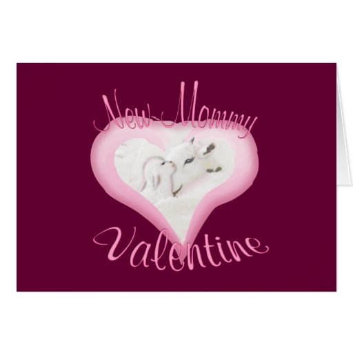 Goat Valentine-New Mommy Card