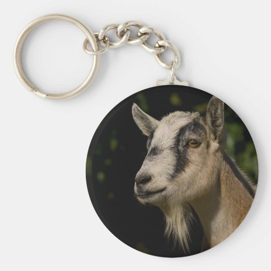 Goat Watching Keychain