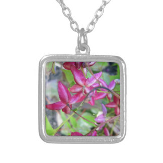 Goat Weed-.jpg Square Pendant Necklace