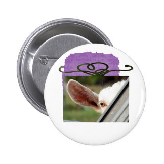Goat white Christmas package shape eye gate Buttons