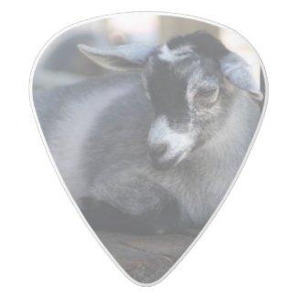 Goat White Delrin Guitar Pick
