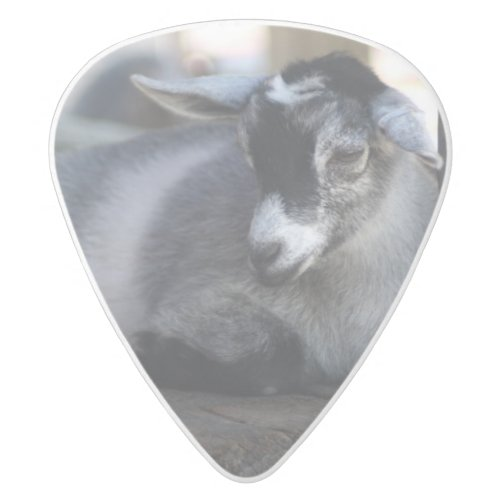 Goat White Delrin Guitar Pick