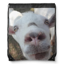 Goat Who Stared at Man Drawstring Backpack