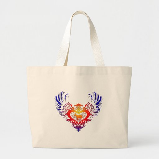 Goat Winged Heart Canvas Bag