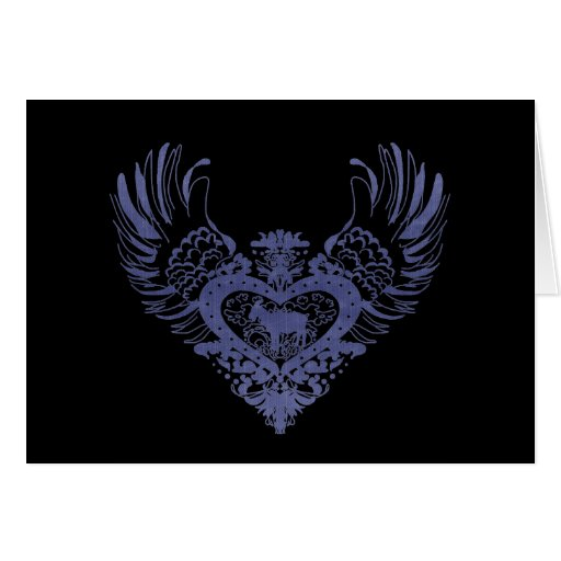 Goat Winged Heart Greeting Card