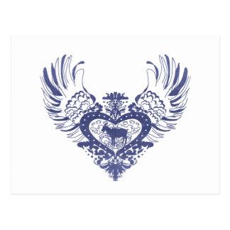 Goat Winged Heart Postcard