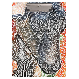 goat with garland abstract sketch clipboard