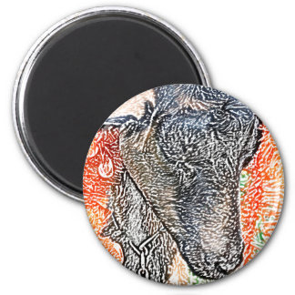 goat with garland abstract sketch magnet