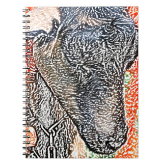 goat with garland abstract sketch notebook
