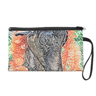 goat with garland abstract sketch wristlet