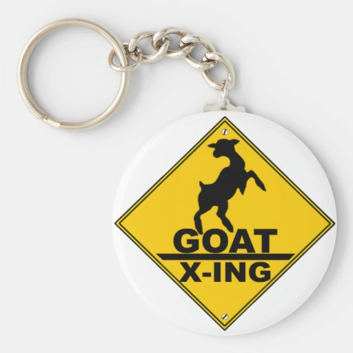 Goat X -ing / GOAT CROSSING WARNING SIGN Keychain