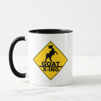 Goat X -ing / GOAT CROSSING WARNING SIGN Mug