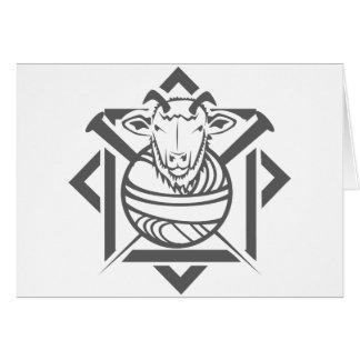 goat yarn card