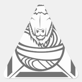 goat yarn triangle sticker