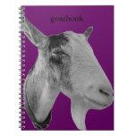 Goatbook púrpura libreta espiral